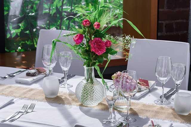 Essen und Dekoration zum 80. Geburtstag